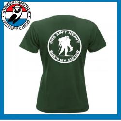 T-Shirt Shè Ain't Dames Groen