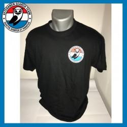 Zwart T-shirt VST met klein...
