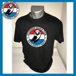 Zwart T-shirt VST met groot...